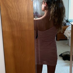 Pink bodycon cocktail dress. Worn once.